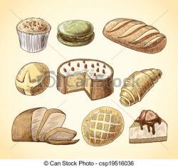 Drawn bread pastry