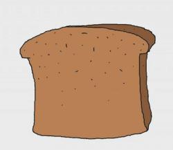 Drawn bread slice bread