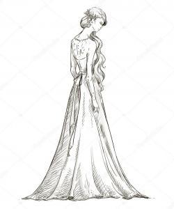 Drawn bride bridal