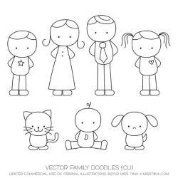 Drawn people simple