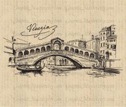 Drawn bridge venice bridge