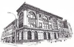 Drawn building