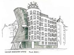 Drawn bulding  architecture building