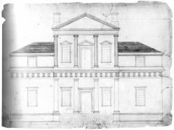 Drawn bulding  neoclassical architecture