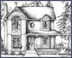 Drawn hosue country house