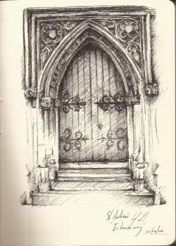 Drawn palace gothic