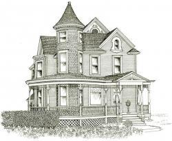 Drawn hosue victorian architecture