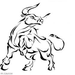Drawn bull taurus