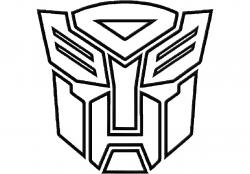 Transformers clipart black and white