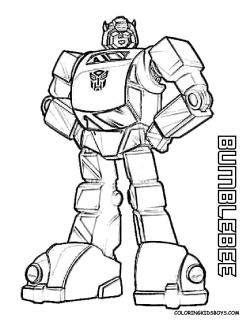 Transformers clipart coloring page