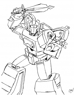 Transformers clipart colouring page