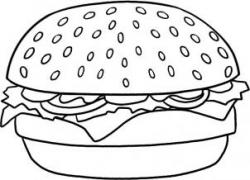 Drawn hamburger coloring