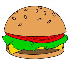 Drawn hamburger burger