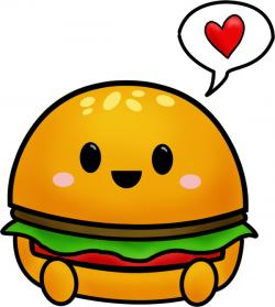 Burger clipart cute cartoon