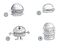 Drawn hamburger simple