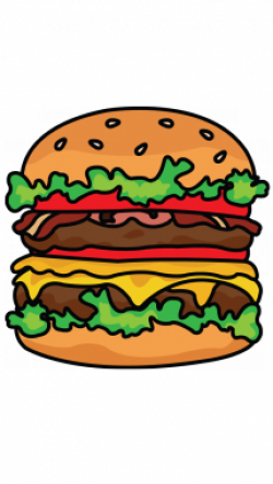 Drawn hamburger cheeseburger