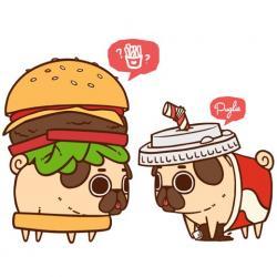 Drawn hamburger chibi