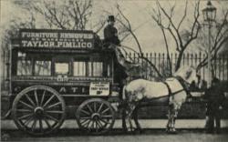 Drawn trolley english horse