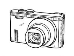 Drawn pice camera