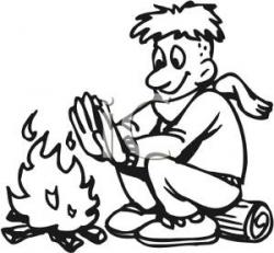 Bonfire clipart warmth