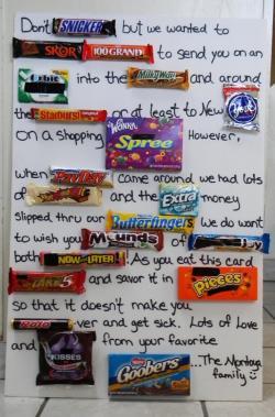 Drawn candy bar lot