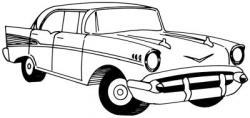 Drawn vehicle 57 chevy