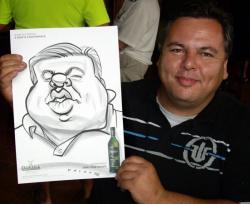 Drawn caricature live