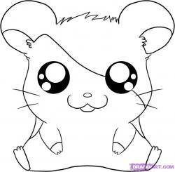 Drawn hamster cartoon