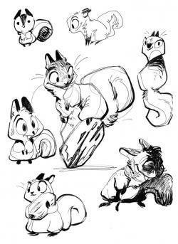 Drawn rodent funny cartoon