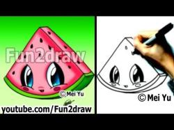 Drawn watermelon fancy