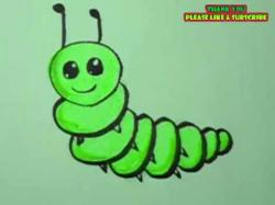Drawn caterpillar