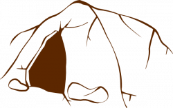 Cave clipart drawn