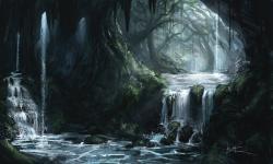 Drawn cavern magical