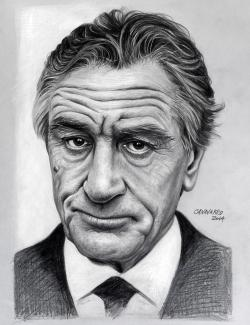 Drawn portrait famous celebrity