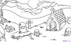 Drawn graveyard