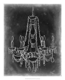 Drawn chandelier chalkboard