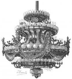 Drawn chandelier paris