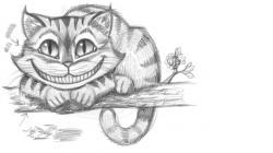 Drawn cheshire cat