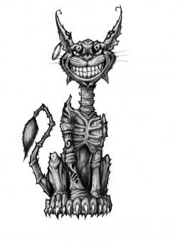 Drawn cheshire cat american mcgee's alice