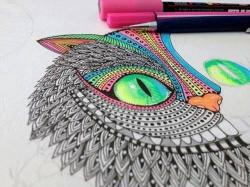 Drawn cheshire cat artsy