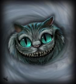 Drawn cheshire cat chess