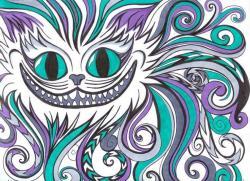 Drawn cheshire cat detailed