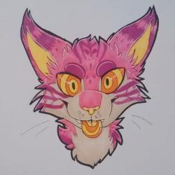 Drawn cheshire cat psychedelic