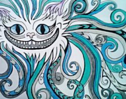 Drawn cheshire cat trippy