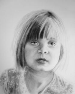 Drawn little girl portrait