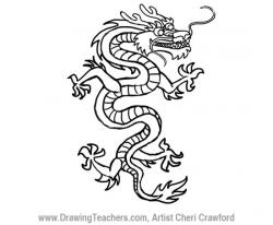 Drawn chinese dragon