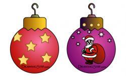 Drawn ornamental christmas cartoon