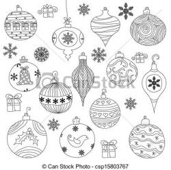 Drawn christmas ornaments