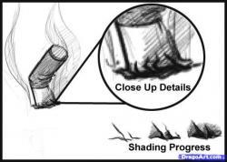 Drawn smokey