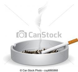Cigarette clipart ashtray